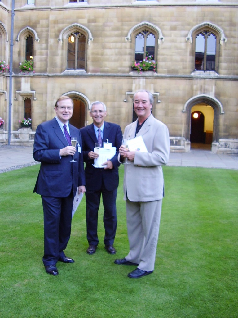 James Marrow and William Voekle at Corpus Christi College, Cambridge, in August 2005. (Photography © Mildred Budny)