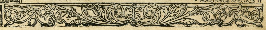 Postilla titlepage border piece