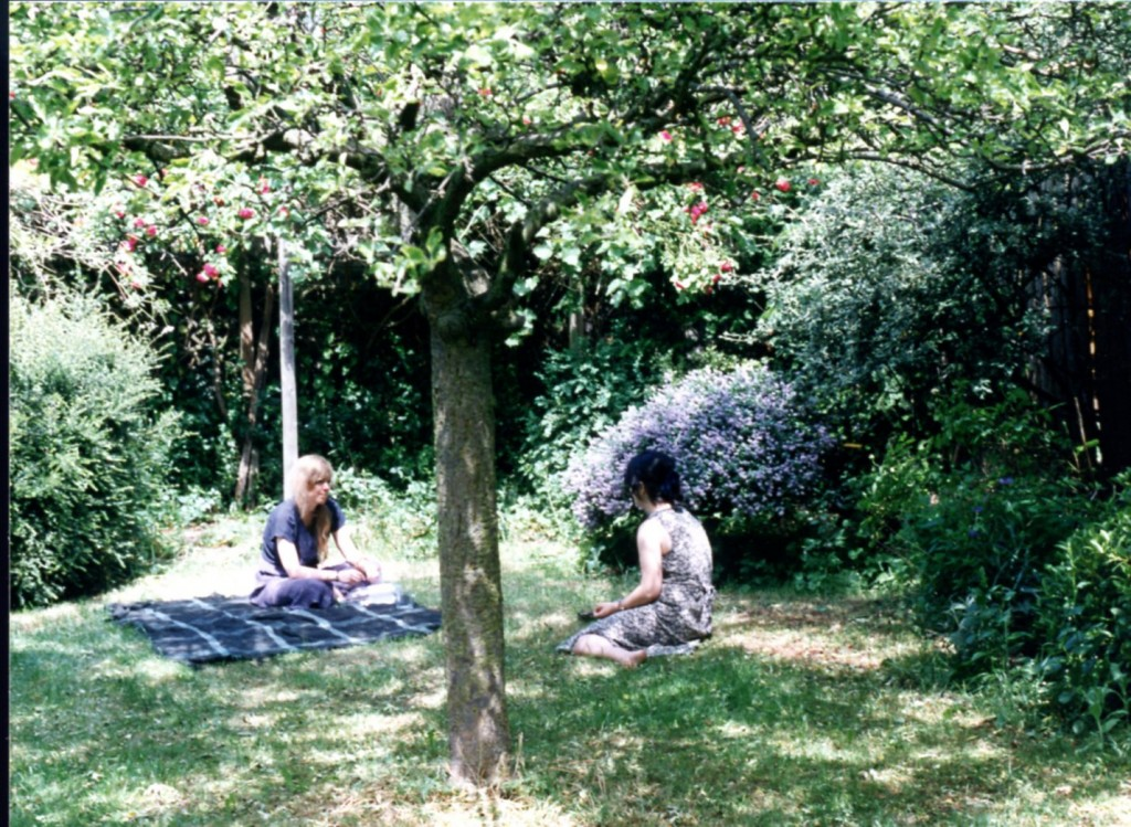 Vivien Law in her Garden in Cambridge, England,June 1996 Photograph © Mildred Budny