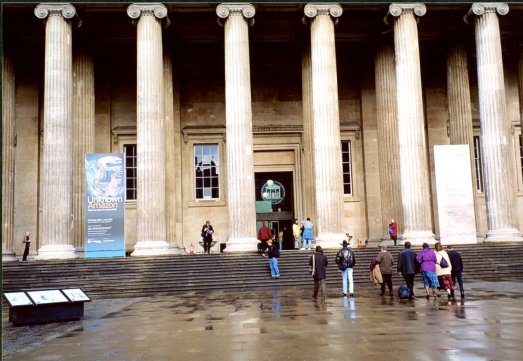 Front Entrance to the British Museum on 10 March 2002 after the 2002 Colloquium Photograph © Mildred Budny