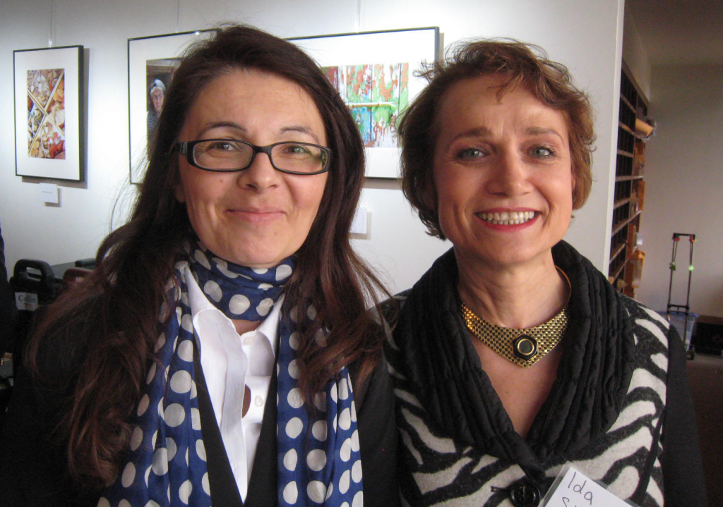 Rossitza and Ida at the Day 1 Reception of the 2013 Symposium, with photography by James Heidere