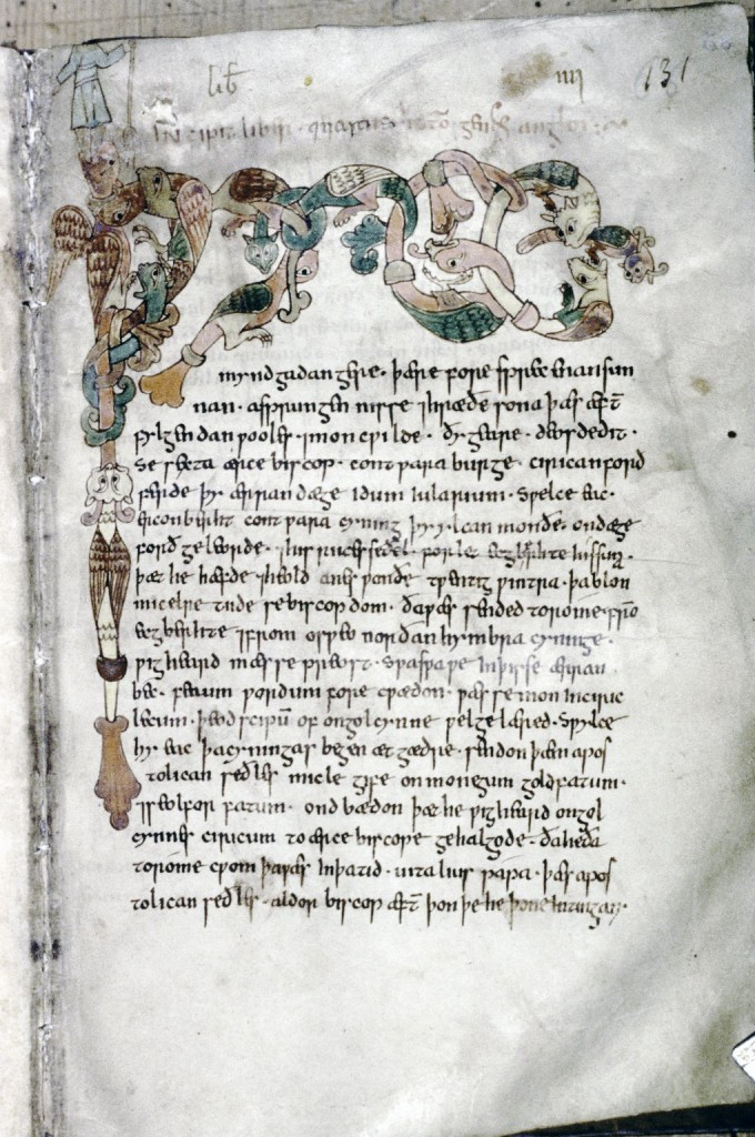 Tanner MS 10, folio 68 recto.  Photo: © Bodleian Library, University of Oxford.