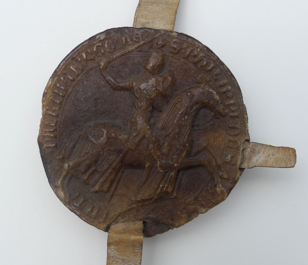 Seal of Philip I, Count of Savoy, with photography by Mildred Budny