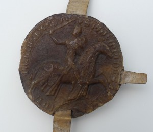 Seal of Philip I, Count of Savoy, with photography © Mildred Budny