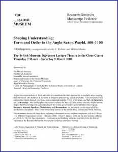 "Poster for ""Shaping Understanding"" Colloquium (March 2002)"