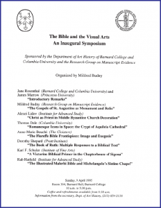 """The Bible and the Visual Arts"" Symposium 1995"