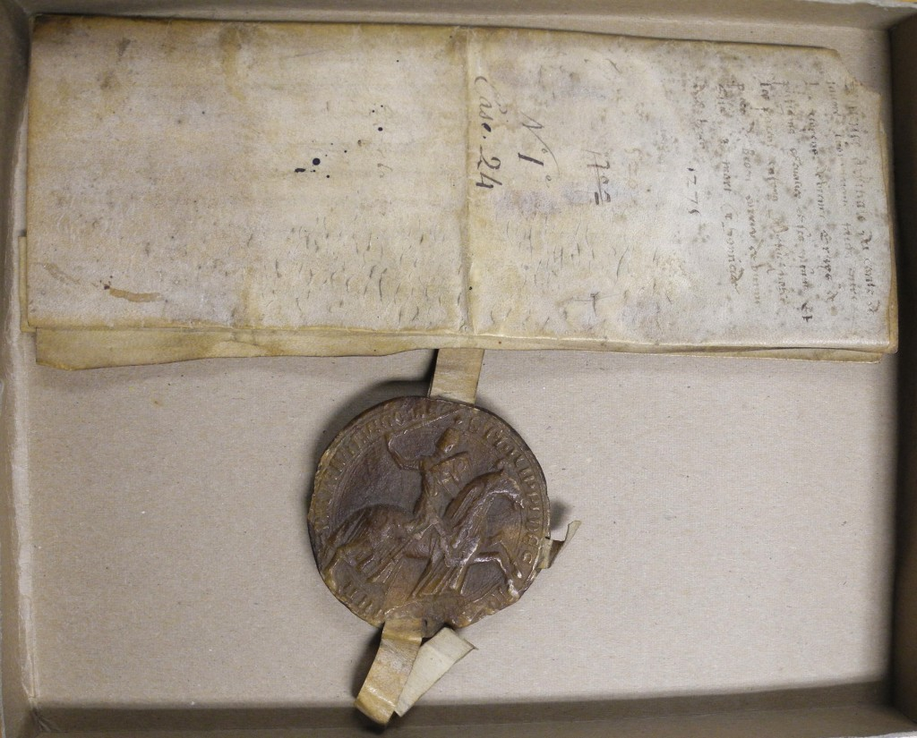 Charter of 1275 of Philip II, Count of Savoy, with wax seal. Photography © Mildred Budny