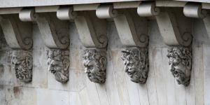 5 Corbel Heads All in a Row