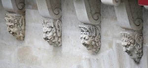 Four Corbel Heads from Le Pont Neuf, Paris