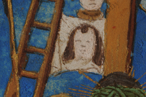 Detail of Veronica's Veil with the imprinted Face of Christ. Photography © Mildred Budny