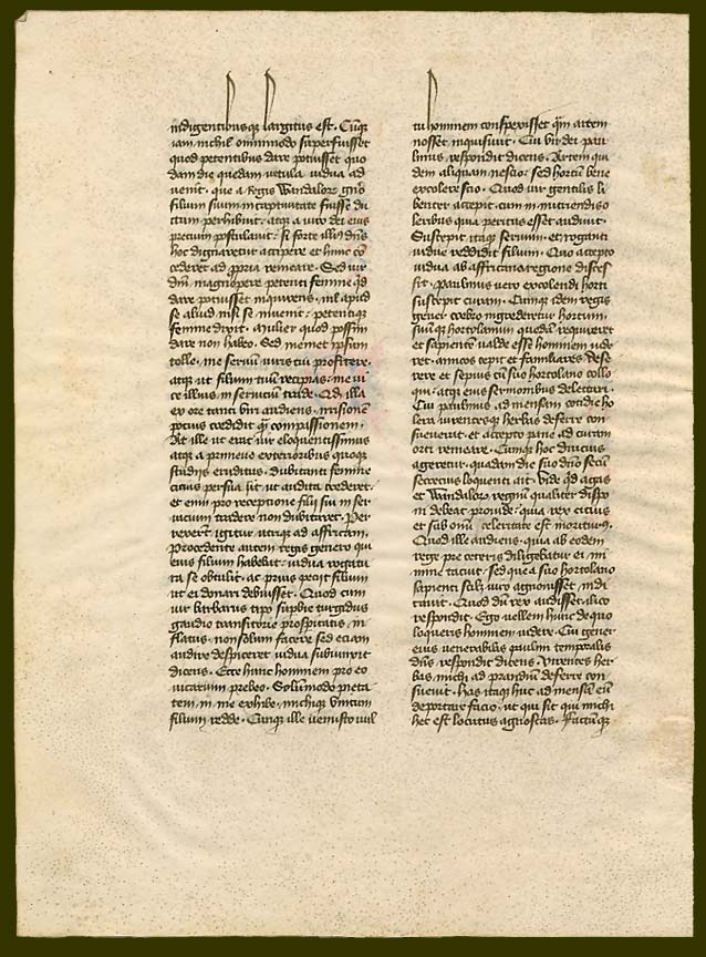 Verso with the continuation of Chapter 1 for Book III of the 'Dialogues' of Gregory the Great from 'Ege Manuscript 41' and now in Dartmouth College Library, reproduced courtesy of Dartmouth College Library