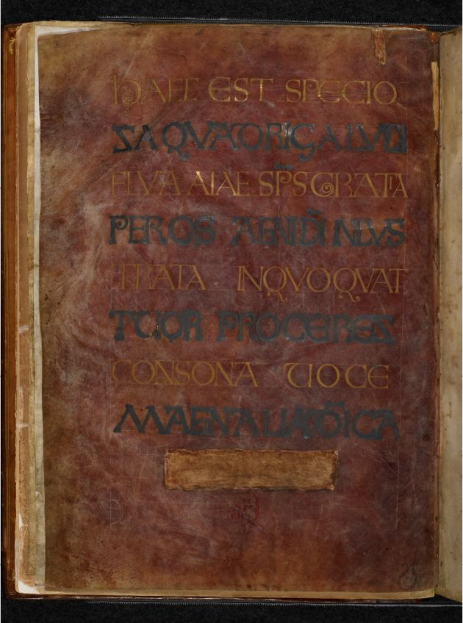 © The British Library Board, Royal MS 1 E vi, folio 1v. Reproduced by permission