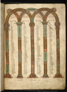 © The British Library Board, Royal MS 1 E vi, folio 4r. Reproduced by permission