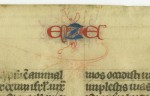 Running title for EZE on the verso of the Ezekiel leaf from 'Ege Manuscript 61'. Photography by Mildred Budny