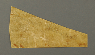 Recto of Scrap from a leaf or document, with the date 1538. Photography © Mildred Budny