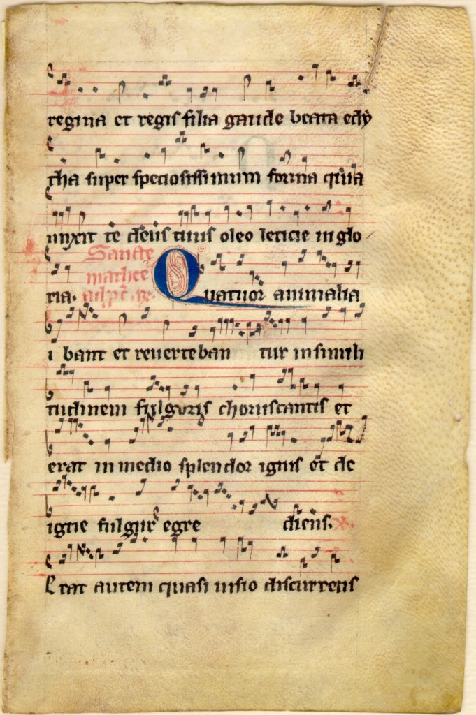 Recto of leaf at Kent State University from 'Ege Manuscript 8'. Reproduced by permission