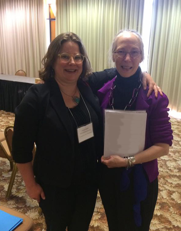 Celebrating the chance to meet, after corresponding, at the Reception co-sponsored by the Research Group on Manuscript Evidence and the Index of Christian Art at the 51st International Congress on Medieval Studies at Kalamazoo in May, 2016.