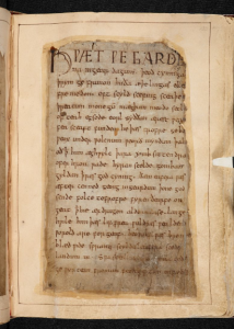 ©The British Library Board, Cotton MS Vitellius A. XV, folio 132r. The opening of the epic poem 'Beowulf', setting the stage impressively for the sole surviving copy of this major monument of Old English language and literature. Reproduced by permission