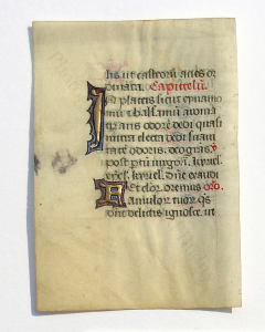 Verso of leaf with part of the Hours of the Virgin. Budny Handlist 11. Photograph © Mildred Budny. Reproduced by permission.