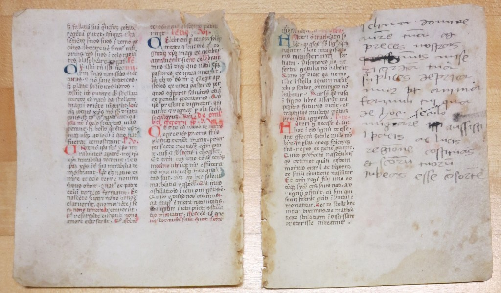 Breviary Fragment, Folios Iv/IIr, with the End of the Lections, plus a Note. Private Collection. Photography by Mildred Budny.