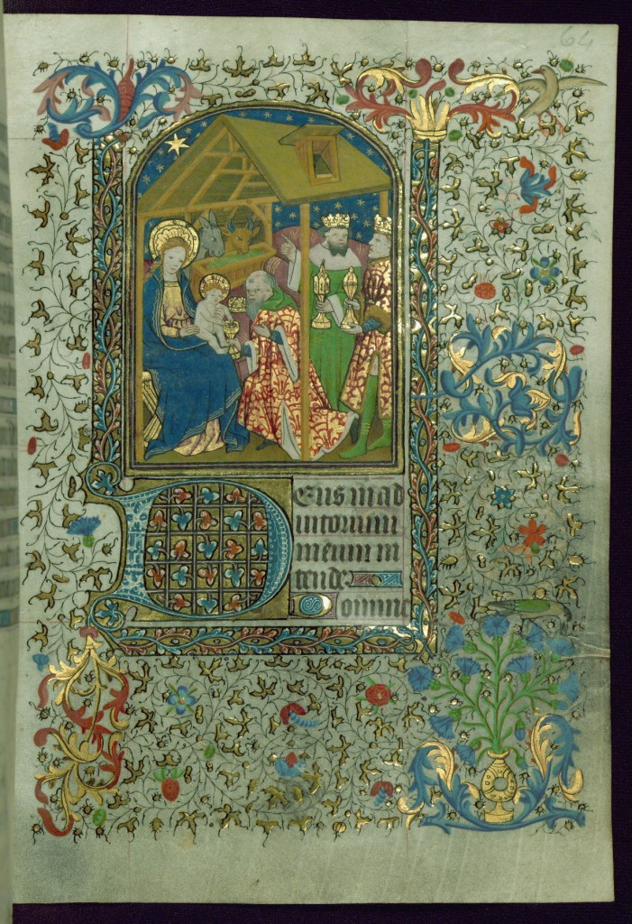 The Walters Art Museum, MS. W. 267, folio 64r, within the Hours of the Virgin. Via Creative Commons. Book of Hours, made in Hainaut, France, circa 1450-1460.