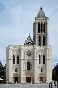 West Façade of the Basilica of Saint-Denis after restoration (2012-2015). Photograph by Thomas Clouet, via Creative Commons.