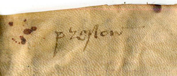 Single-word Docketing inscription added to the back of Document 6 from Preston. Reproduced by permission.