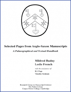 "Cover for ""Selected Pages from Anglo-Saxon Manuscripts: A Palaeographical and Textual Handbook"" by Mildred Budny, Leslie French et al."