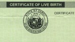 Heading of Blanked out Birth certificate after adoption completed.