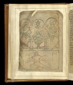 © The British Library Board, Cotton MS Tiberius A. III, folio 2v.