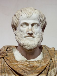 Rome, Palazzo Altemps. Marble bust portrait of Aristotle. Via Wikipedia Commons.