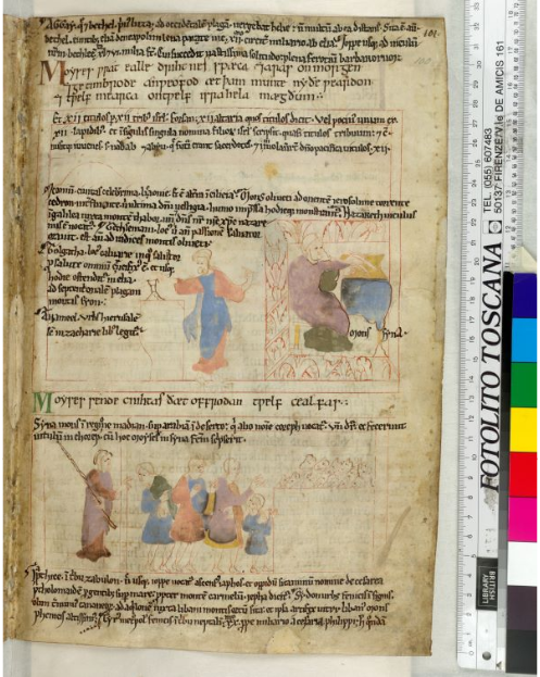 © The British Library Board, Cotton MS Claudius B IV, folio 100r: Exodus 24:4‒ 5. Reproduced by permission.