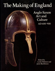 Front Cover of 'The Making of England' (1991), paperback version, showing the reconstructed helmet excavated from the Sutton Hoo Ship Burial.