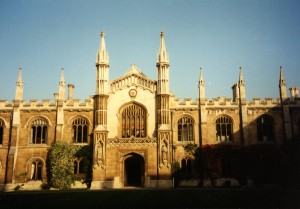 View Toward the Chapel of Corpus Christi College in mid-September 1994 photography © Mildred Budny