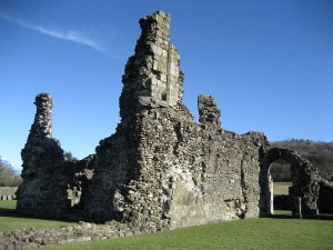 Ruins of the Chapel of Salley / Sawley Abbey, Lancashire. Photograph by Chris Heaton via Wikipedia Commons.