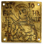 The Brandon Plaque. 9th-century Anglo-Saxon gold and niello. The British Museum, via Creative Commons.