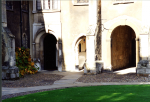 Old Court at Corpus Christi College, Summer 1994. Photograph © Mildred Budny.