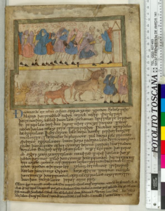 © The British Library Board. Cotton MS Claudius B IV, folio 69r. Reproduced by permission.