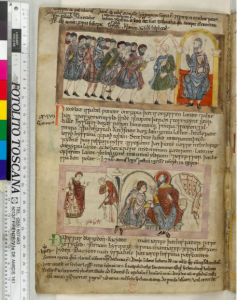 © The British Library Board. Cotton MS Claudius B IV, folio 69v. Reproduced by permission.