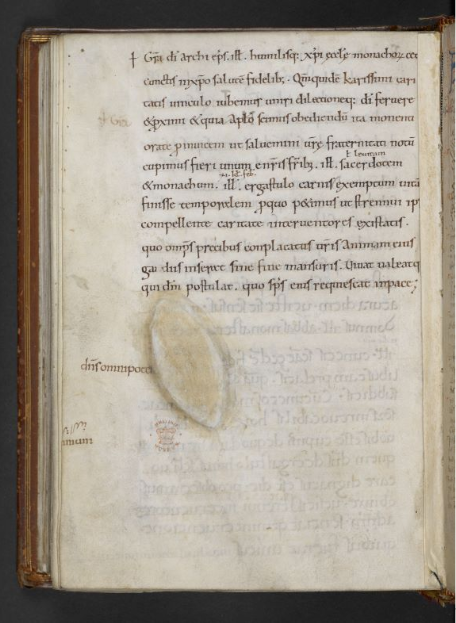 © The British Library Board. Cotton MS Faustina B III, folio 198v. Reproduced by permission.