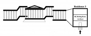 Diagram by Leslie French for the Seminar of 9 August 1993 showing the front entrance and both East and West Wings of the British Museum.