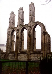 Remnants of the Abbey of Saint-Bertin, September 1993. Photograph © Mildred Budny. Reproduced by permission.