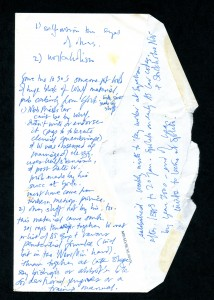 Notes by Telephone for 19 June 1993 Side 1