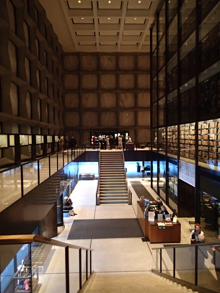 Long View of the Takamiya Collection Exhibition at the Beinecke Rare Book and Manuscript Library in September 2017. Photograph by Mildred Budny.