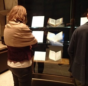 Case Study of the Takamiya Collection Exhibition at the Beinecke Rare Book and Manuscript Library in September 2017.  Photograph by Mildred Budny.