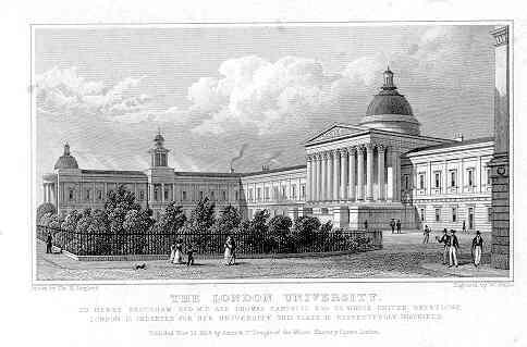 'The London University' as viewed by Thomas Hosmer Shepherd (published in 1827/280), via Wikipedia Commons.