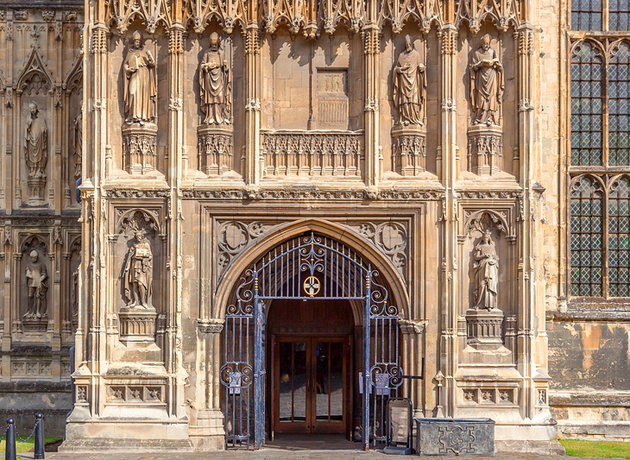Southwest Porch of Canterbury Cathedral. Photography