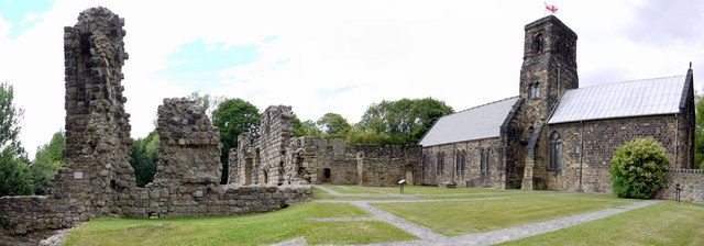 Monastery site and St Paul's Church Jarrow © Andrew Curtis via Creative Commons License