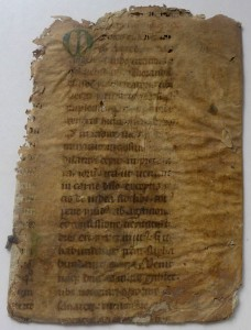 Recto of the Part-Leaf from Bede's Homily on the Gospels for Holy Saturday (Mark 7:31-37).