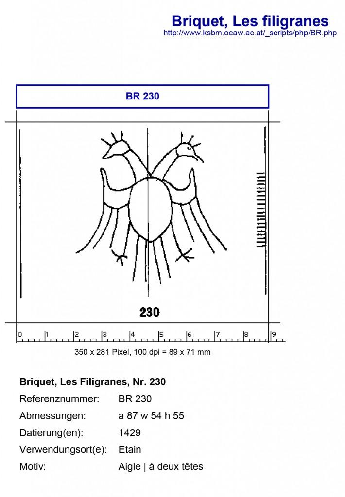 Briquet Online, No. 230: Aigle